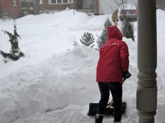 Then, began the painstaking process of shovelling.