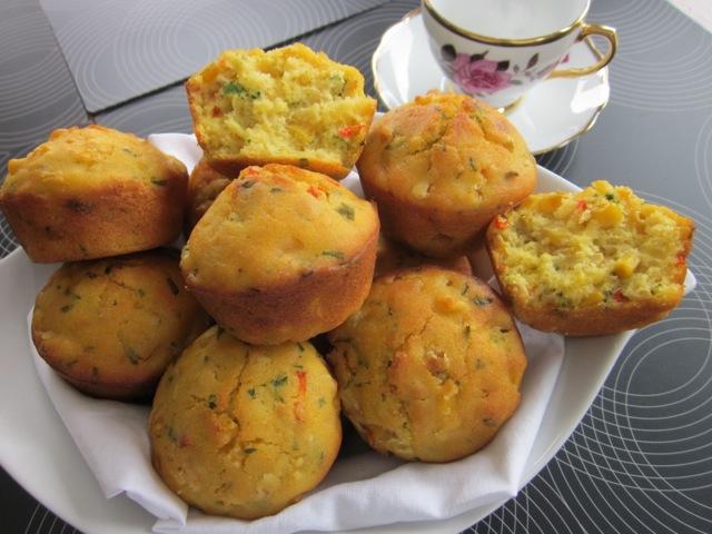 Corn & Capsicum Muffins_7403