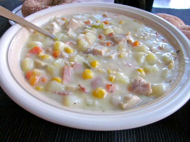 Creamy Chicken and Corn Chowder myfavouritepastime.com