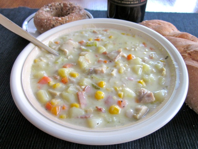 Chicken Chowder with Corn myfavouritepastime.com
