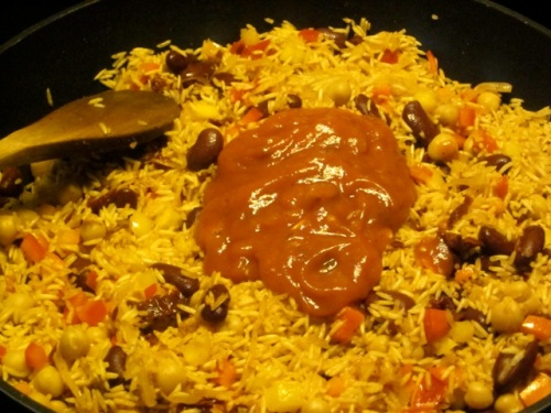 Rice with Beans and Sun-Dried Tomatoes_3807