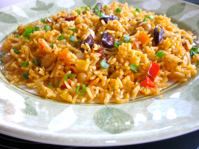 Rice with Beans and Sun-Dried Tomatoes_3876