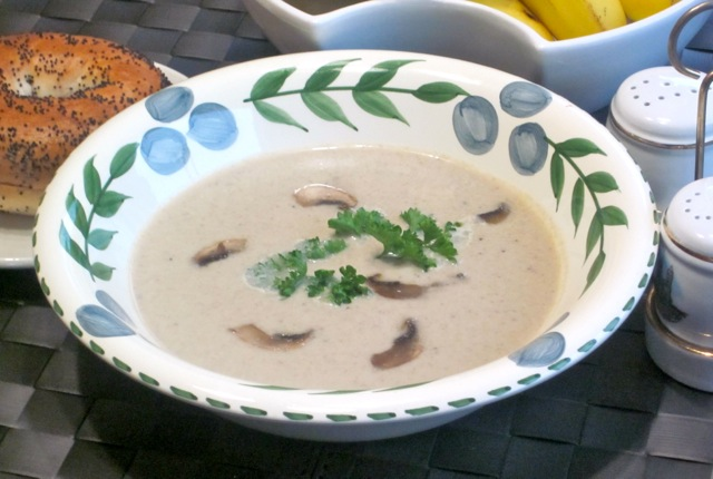 how to make cream of mushroom soup in soup maker