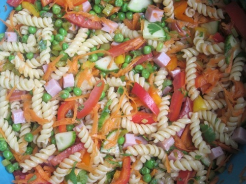 Pasta Salad with Vegetables and Ham My Favourite Pastime_4134