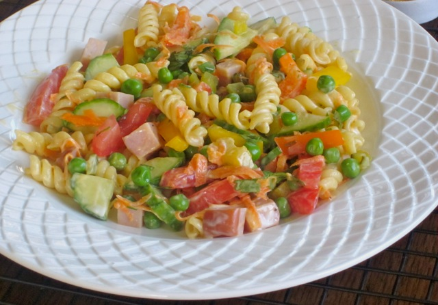 Pasta Salad with Vegetables and Ham myfavouritepastime_4162