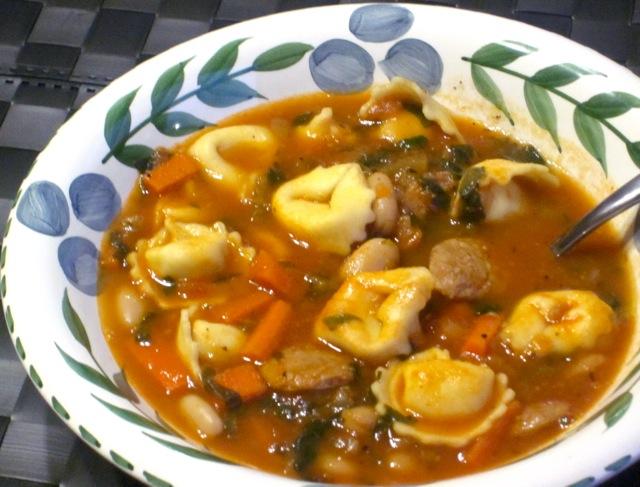 Tortellini Sausage Soup myfavouritepastime.com_3529