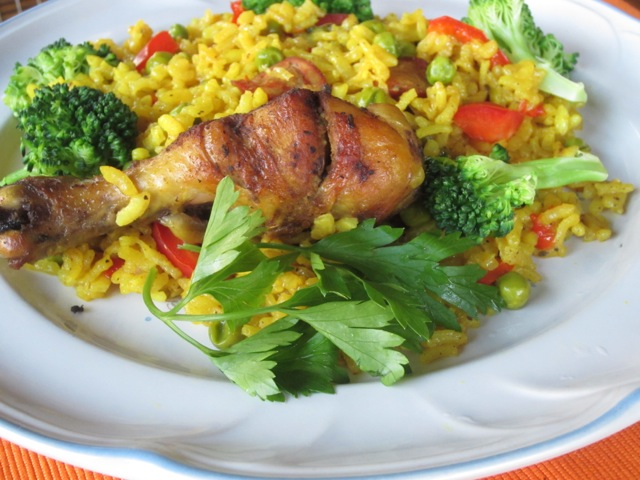 Chicken Paella myfavouritepastime.com_7321