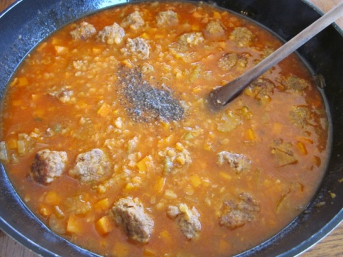 Lentil Carrot Soup with Meatballs myfavouritepastime.com_7345
