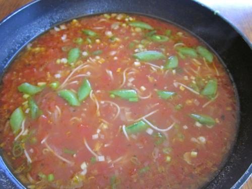 Tomato Corn Pasta Soup with Sugar Snap Peas myfavouritepastime.com_7091