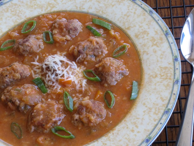 Lentil Carrot Soup with Meaballs myfavouritepastime.com_8077