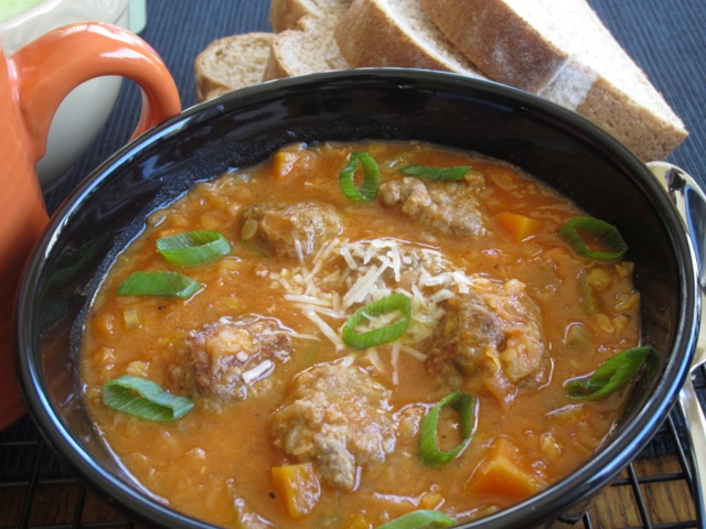 Lentil Carrot Soup with Meaballs myfavouritepastime.com_8142