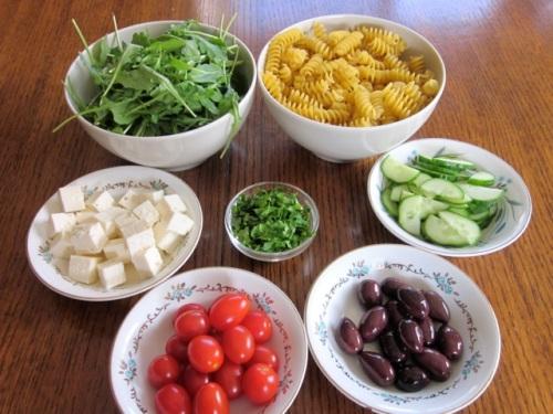 Pasta Salad with Tomatoes, Arugula and Feta myfavouritepastime.com_7603