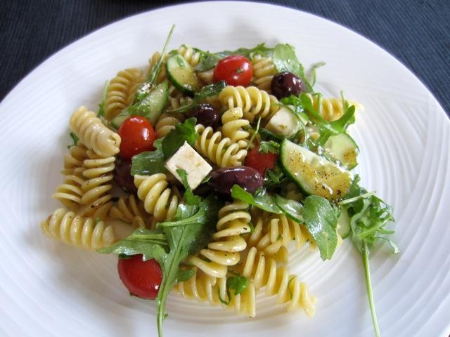 Pasta Salad with Tomatoes, Arugula and Feta myfavouritepastime.com_8647_2