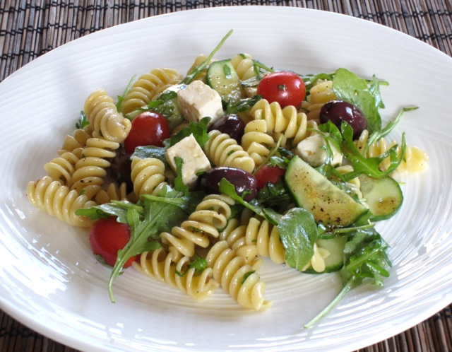 Pasta Salad with Tomatoes, Arugula and Feta myfavouritepastime.com_8657_2