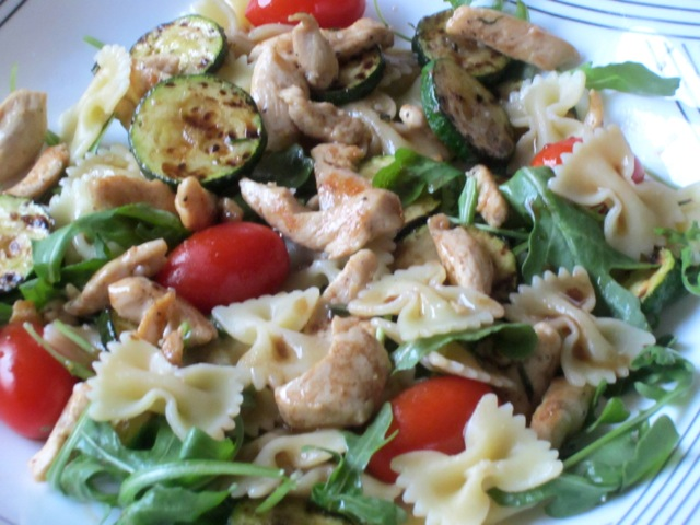 Warm Pasta Salad with Chicken myfavouritepastime.com._0762