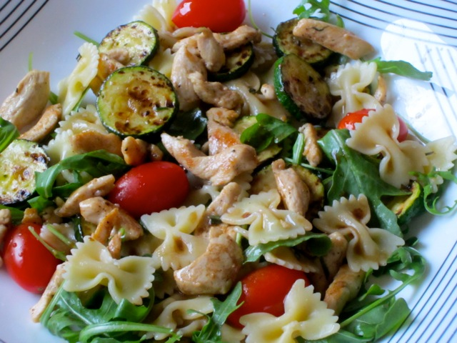 Warm Pasta Salad with Chicken myfavouritepastime.com_0765