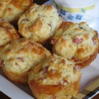 Smoked Ham and Cheese Muffins