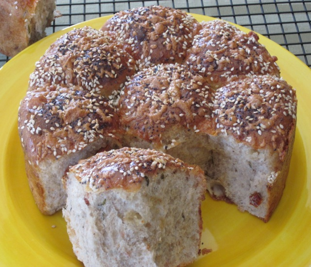 Cheese, Basil and Sun-dried Tomato Bread myfavouritepastime.com_0109