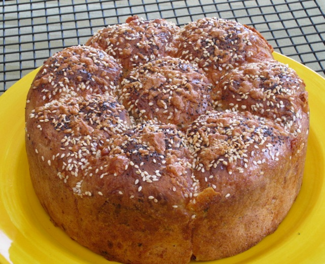 Cheese, Basil and Sun-dried Tomato Bread myfavouritepastime.com_1306