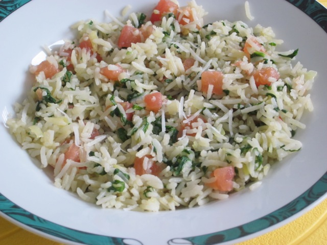 Basmati Rice With Spinach And Parmesan My Favourite Pastime