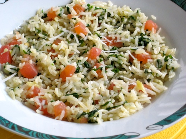Basmati Rice with Spinach and Parmesan myfavouritepastime.com_2046