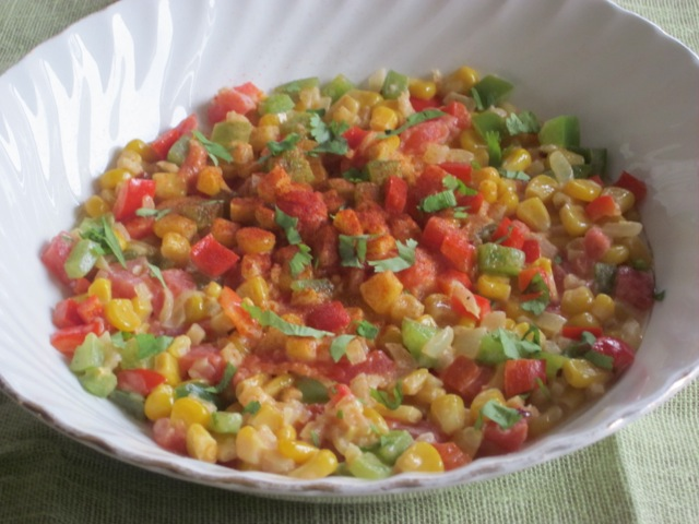 Creamy Sweet Corn and Peppers myfavouritepastime.com_1494