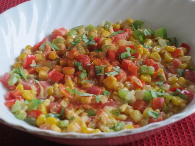 Creamy Sweet Corn and Peppers myfavouritepastime.com_1780