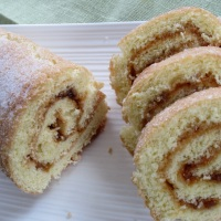 Swiss Roll with Jam Filling