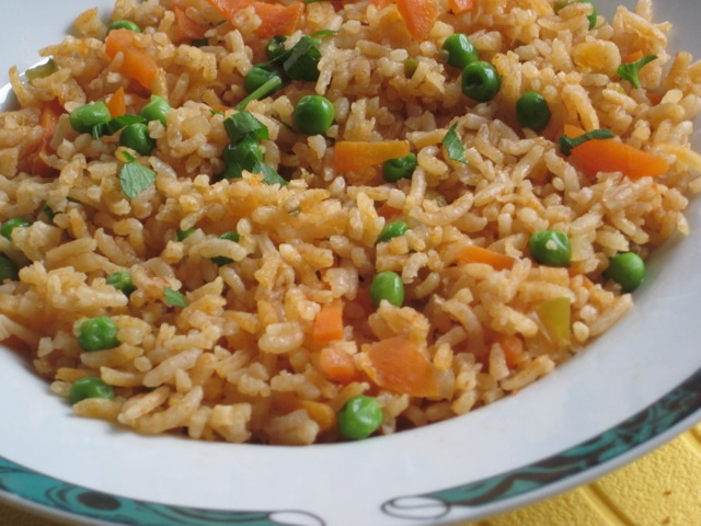 Basmati Rice with Carrot and Peas myfavouritepastime.com_1982