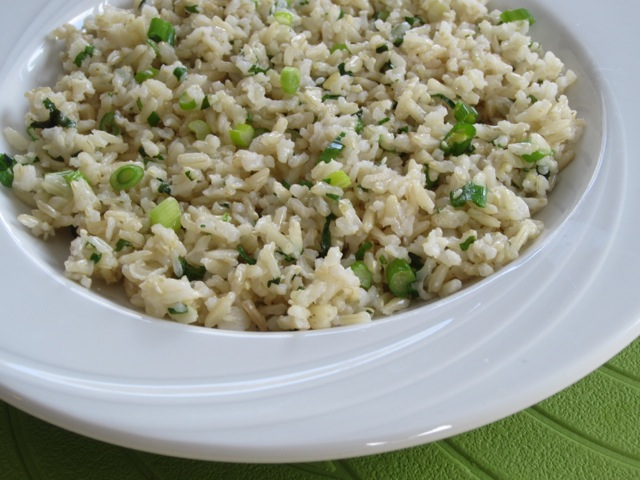 Brown Rice with Green Onions & Cilantro myfavouritepastime.com_1586