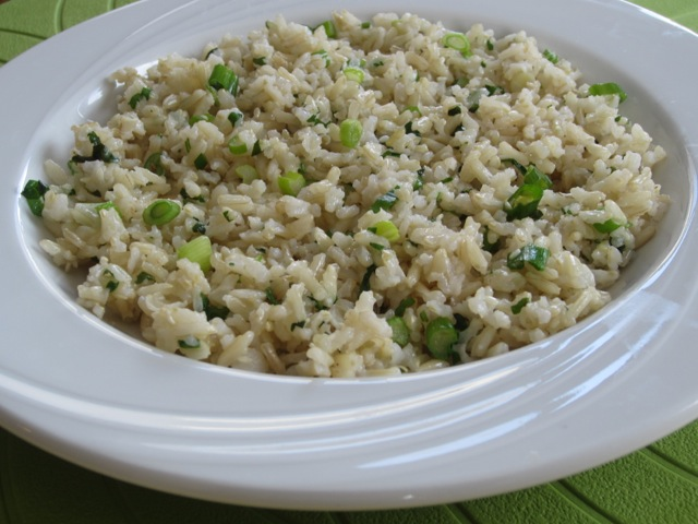 Brown Rice with Green Onions & Cilantro myfavouritepastime.com_1588