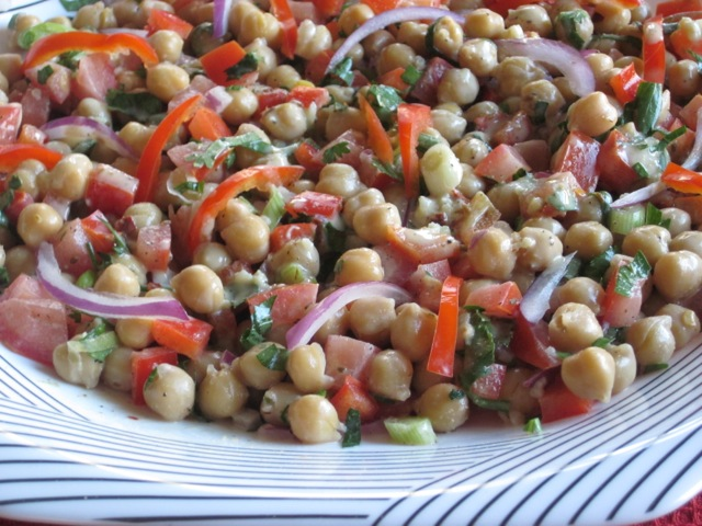 Chickpea Salad with Tahini Dressing myfavouritepastime.com_3075