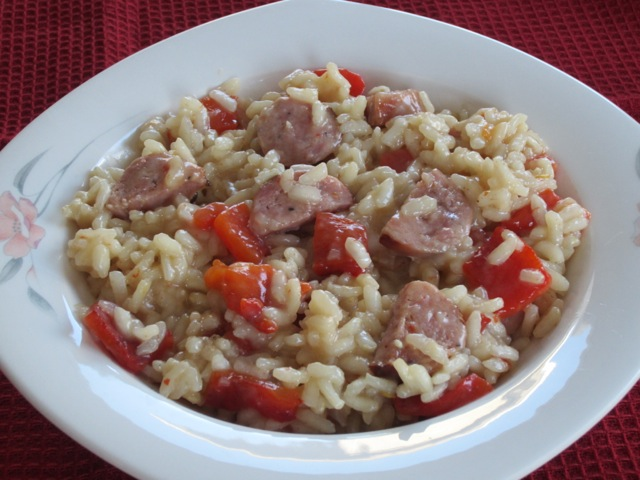 Risotto with Sausage and Roasted Bell Pepper myfavouritepastime.com_1315