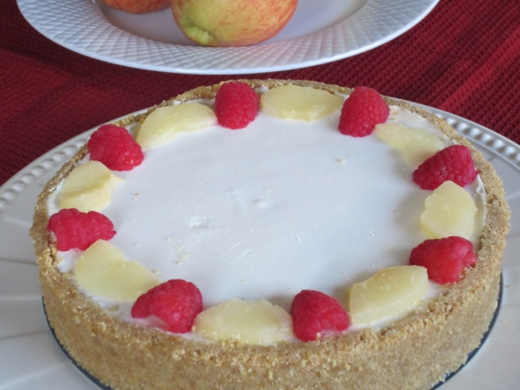 No-Bake Cheese Cake with Pears myfavouritepastime.com