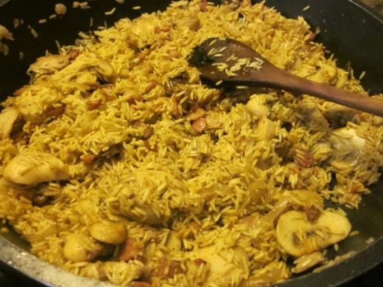 Mushroom Bacon Pilau myfavouritepastime.com_3568