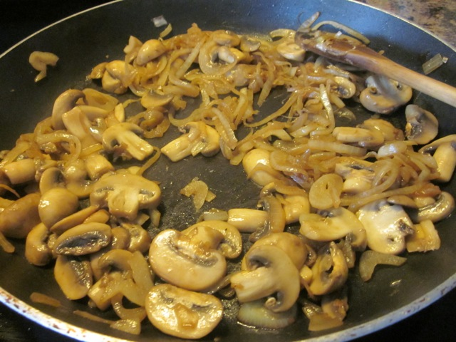 ... tablespoon olive oil and cook mushrooms and onions for about 5 minutes