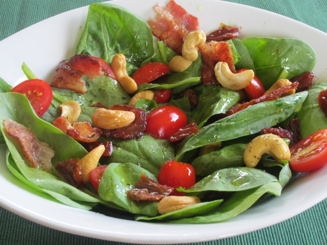 Spinach Sun-dried Tomatoes and Bacon Salad myfavouritepastime.com_2253