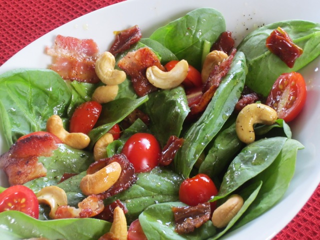 Spinach Sun-dried Tomatoes and Bacon Salad myfavouritepastime.com_2259