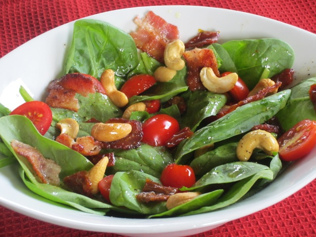 Spinach Sun-dried Tomatoes and Bacon Salad myfavouritepastime.com_2260