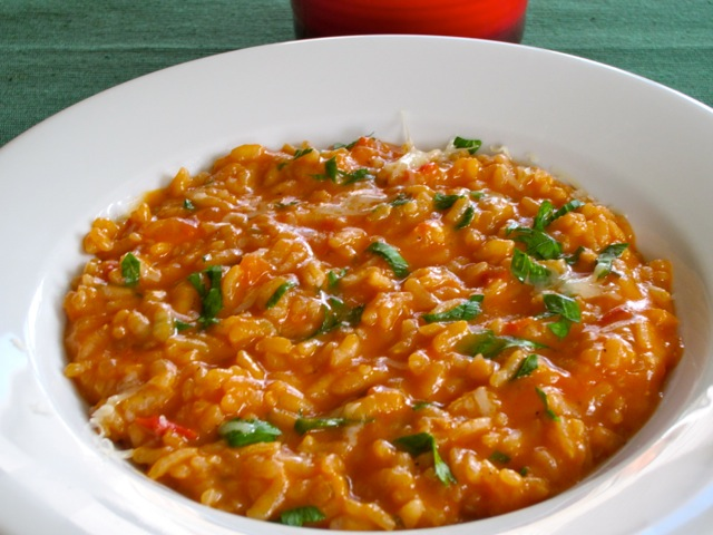 Tomato Parsley Risotto with Red Wine myfavouritepastime.com
