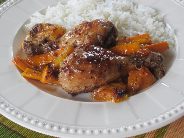Apricot Glazed Chicken myfavouritepastime.com