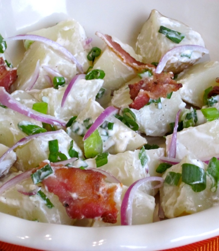 Potato Salad with Bacon myfavouritepastime.com