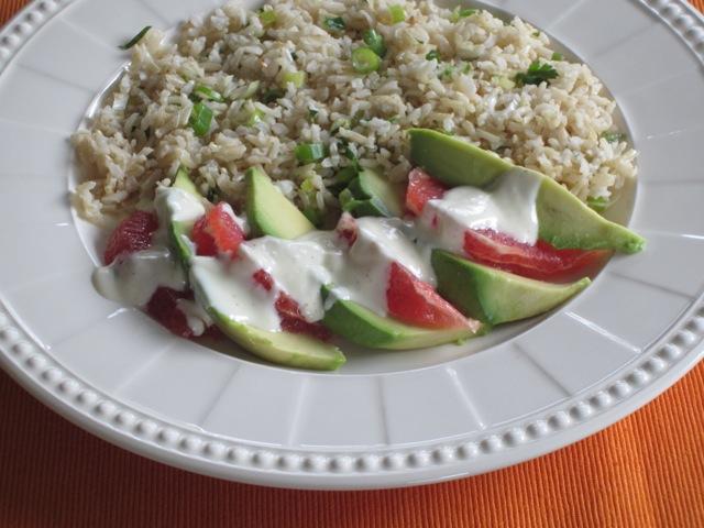 Brown Rice Avocado and Grapefruit Salad myfavouritepastime.com_3106