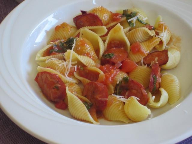 Pasta with Chorizo Sausage myavouritepastime.com_3033