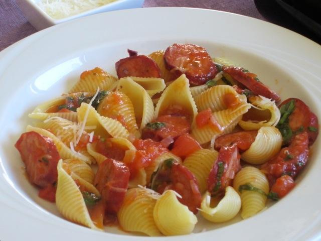Pasta recipes chorizo sausage