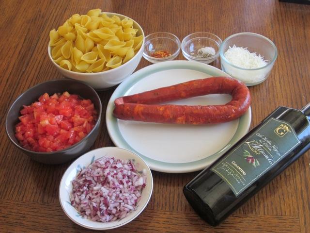 Pasta with Chorizo Sausage myavouritepastime.com_4601