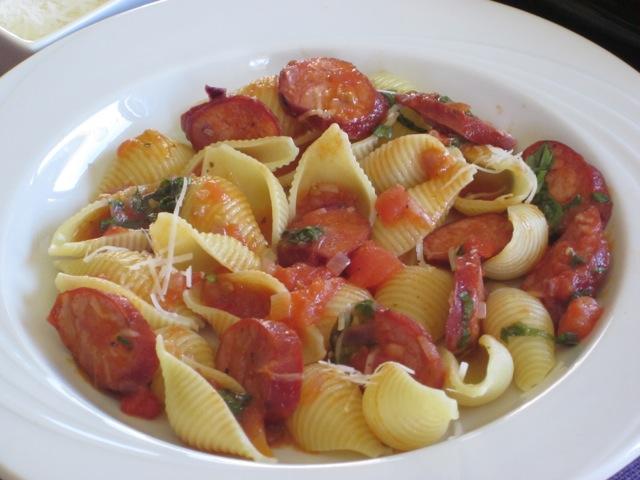 Pasta with Chorizo Sausage myavouritepastime.com_4609