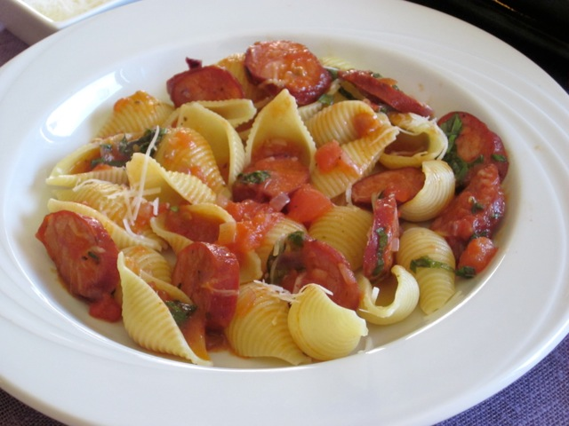 Pasta with Chorizo Sausage myavouritepastime.com_4612