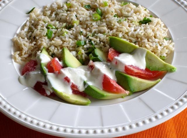 Brown Rice Avocado and Grapefruit Salad myfavouritepastime.com_3106b
