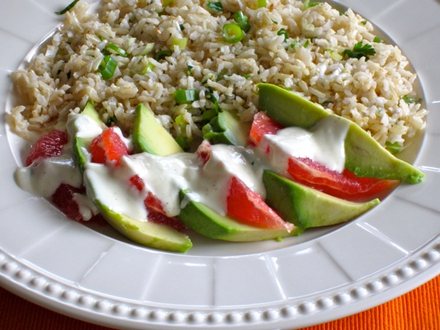 Brown Rice Avocado and Grapefruit Salad myfavouritepastime.com_3107_2